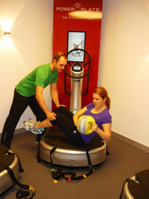 exercise on the Power Plate