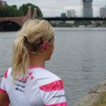Sport bei Hitze - Anja Beranek in Frankfurt