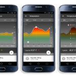 Bildschirmfotos der Smartphone App mit Temperaturanzeige des degree Thermometers