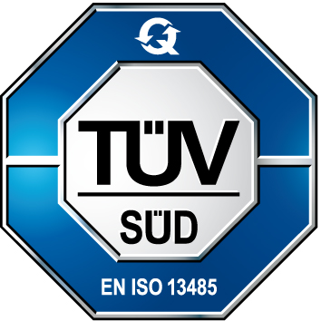 Prüfzeichen des TÜV Süd - EN ISO 13485
