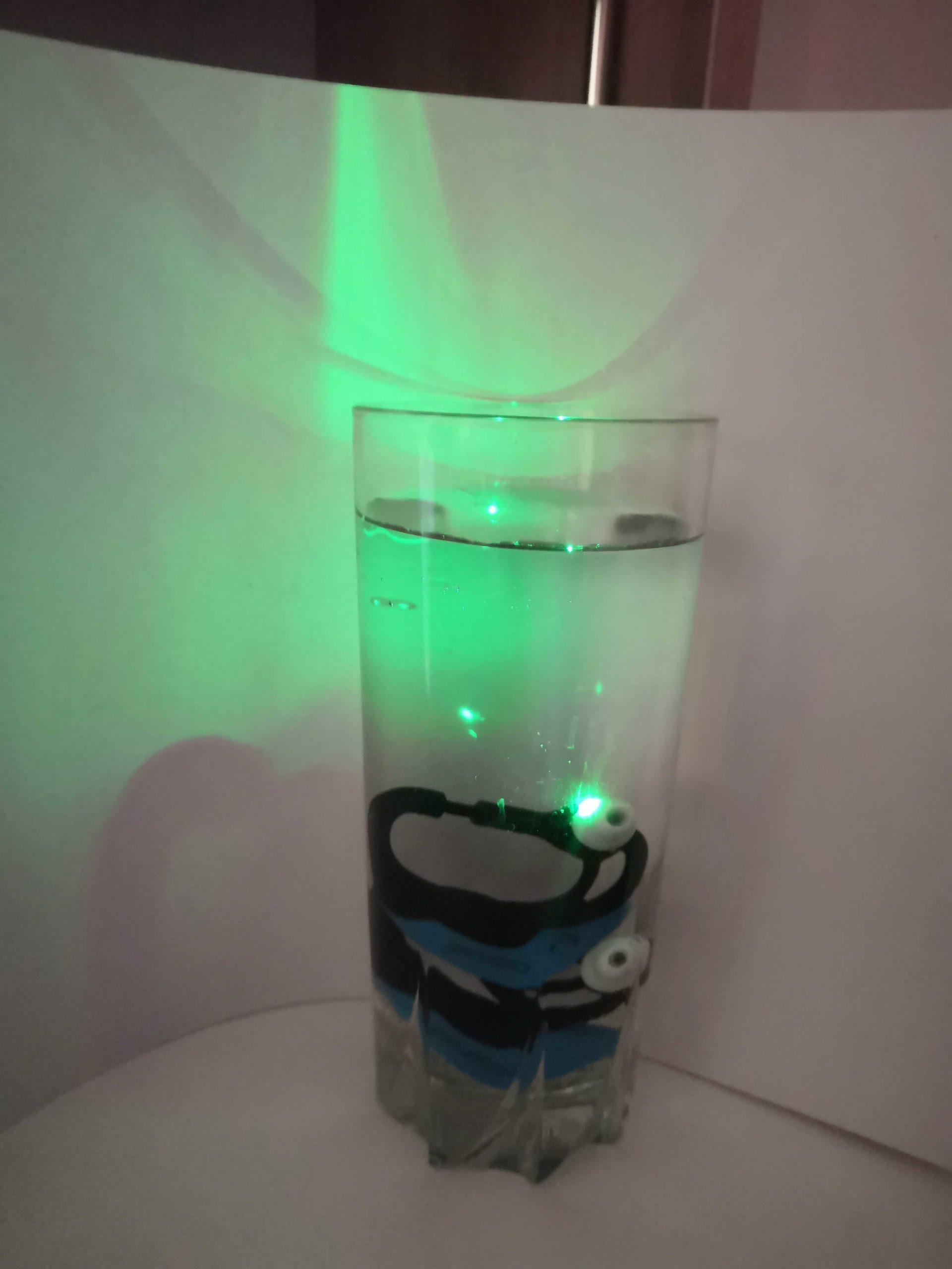 Unterwassertest mit dem cosinuss° Sensor
